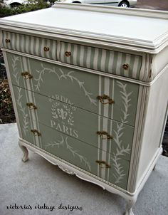 Victoria's Vintage Designs: Beach House Dresser {E's Room}