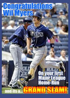 TAMPA BAY RAYS Wil Myers hits his first Major League Home Run and it's a GRAND SLAM! Go Wil!!!