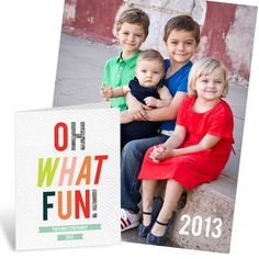 Photo Christmas Cards  -- Oh What Fun Poster #ChristmasCards #unique