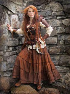 Gorgeous redhead warrior elf by TatharielCreations