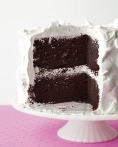 Devil's Food Cake with Fluffy Frosting Recipe