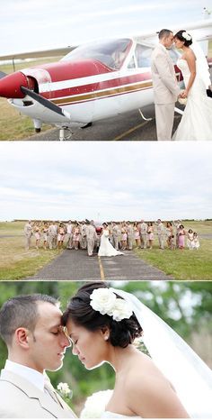 Aviation Bridal Party Shoot...I totally wish we did this.