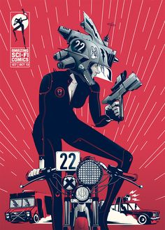 Amazing Sci-Fi Comics #127 by Gabriel Silveira, via Behance