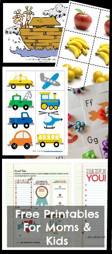 all the best FREE printables for moms and kids