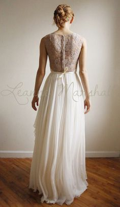 Josephine lace and silk chiffon gown  etsy exclusive by Leanimal, $1575.00