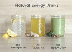 Homemade Natural Energy Drinks...http://improvedaging.com/homemade-natural-energy-drinks/