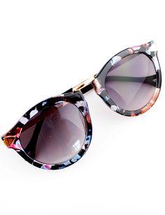 Purple Lenses Floral Sunglasses//