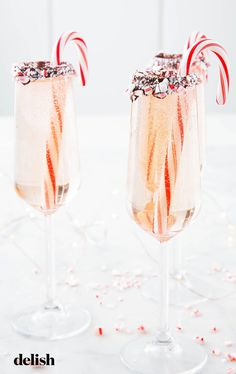 These Peppermint Bark Mimosas Bring The Holiday CheerDelish