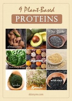 Ever wonder how to get enough protein in a meal without meat or fish? Take a peek at this for some plant protein power. #plantbased #protein