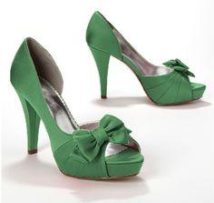 Satin Peep Toe Platform High Heel with Bow Maribelle