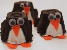 Thursday, February 6 & Monday, February 10, 2014. The kids made these cute egg carton penguins!!