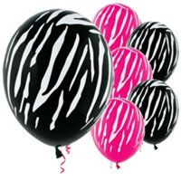 Zebra party decorations
