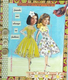 friends, fashion collage, collages, craft project, pools