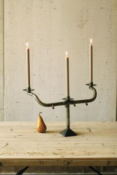 recycled bicycle handle bars, candelabra