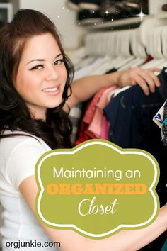 Maintaining an Organized Closet
