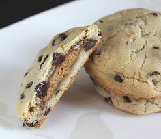 Peanut Butter Cup Stuffed Choco Chip Cookies - OMG!