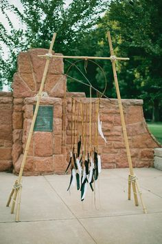 Dream catcher altar. Wedding by Emerson Events. Photo by Amanda Watson Photography. #wedding #altar #dreamcatcher #nativeamerican