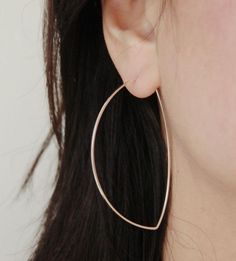 Avalon Sterling Silver Hoop Earrings | A perfect variation on the classic hoop earring