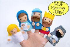 PDF Pattern: Nativity Finger Puppets.