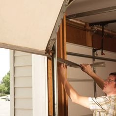 Renew your garage door. Replace rotted trim with rot-free solid vinyl trim. Install a new door bottom seal. And clean up a rusty track.