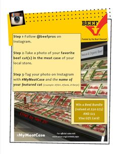 #MyMeatCase #Instagram #contest is live and we want to see pics of YOUR favorite cuts of beef in your local meat case!