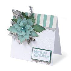 Season's Greetings Tattered Poinsettia Card   Sizzix.co.uk