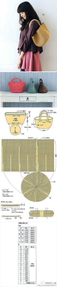 Crochet Bag - Chart ❥Teresa Restegui http://www.pinterest.com/teretegui/❥