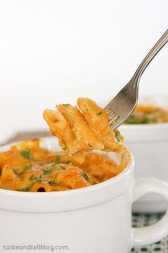Pumpkin Cheddar Mac and Cheese | www.tasteandtellblog.com