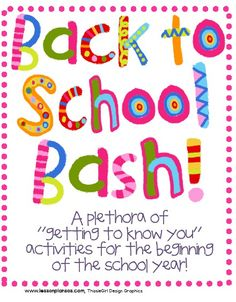 Great ideas for the first week of school for both teachers and students!