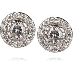 Ileana Makri 18-karat white gold diamond stud earrings found on Polyvore