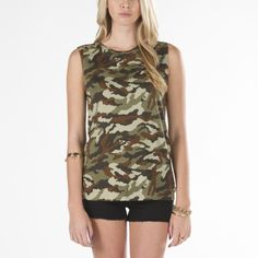 Painted Camo Muscle Tee