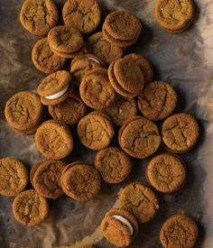 Ginger Molasses Cookies with Cream Cheese filling