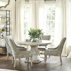 "Andrews Pedestal Dining Table - 60"".  Love this!  #ballarddesign"