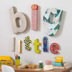The Land of Nod   Kids Arts & Crafts: Large Crafty Paper Letter in Wall Letters