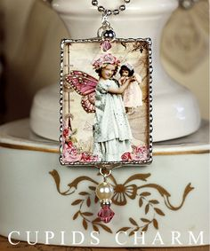 Charming Fairy Girl with Doll Soldered Art Charm