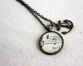 Sheet music jewelry
