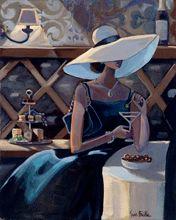 :: Trish Biddle Fine Art :: Bar Scenes 2 :: Glamorous Women in Fabulous Places :: Eva Longoria :: Kentucky Derby :: Westminster Dog Show :: Hamptons Classic :: Del Mar