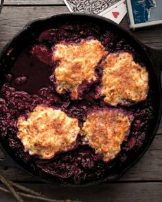 Skillet-Cooked Mixed-Berry Grunt Recipe
