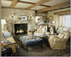 """I want this living room. The set of the Rosehill Cottage from the movie """"The Holiday"""""""