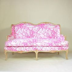 So so fun. Pink Lines Settee.  OMGawd.........love this!!