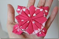 Fabric origami bows and flowers!