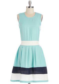 Coastal Companion Dress in Aqua. This sleeveless, aqua dress from Vacant is perfect for a stroll through your coastal city. #blue #modcloth