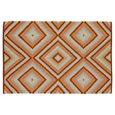 The Land of Nod | Kids Rugs: Diamond Patterned Rug in All Rugs
