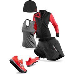 #Reebok #getafterit #Crossfit #fitfluential RED,GREY and BLACK slick look