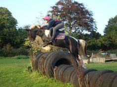 Tires - a great way to set up a permanent jumping course!