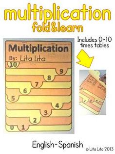 Multiplication (0-10) Fold and Learn