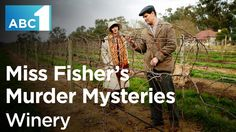 Go behind the scenes of the latest episode, 'Death On The Vine', which is set at an idyllic vineyard in countryside Victoria. The winery used for the episode was Tahbilk Winery & Vineyard near Nagambie, a rural area north of Melbourne. #MissFisher #PhryneFisher #winery #vineyard #Tahbilk #Melbourne #Victoria #Nagambie #behindthescenes