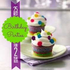 """""""25 Best Birthday Parties for 2 year olds,"""" but are great ideas for kids birthday parties!-- this pin has a great roundup of fun themes for both boys and girls"""