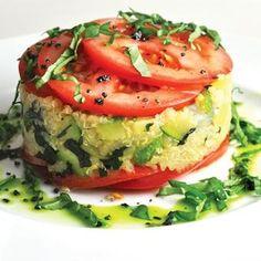 Quinoa with Tomato, Zucchini, and Basil