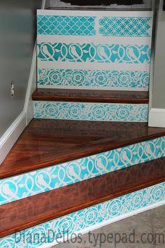stair risers, crafti fun